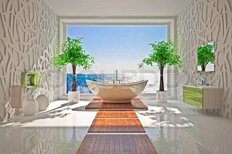 moderne indretning Moderne indretning af badeværelset | stock foto | Colourbox moderne indretning