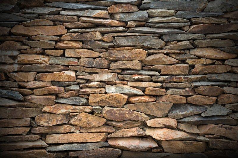 Slate Stone Wall For Decoration Stock Photo Colourbox
