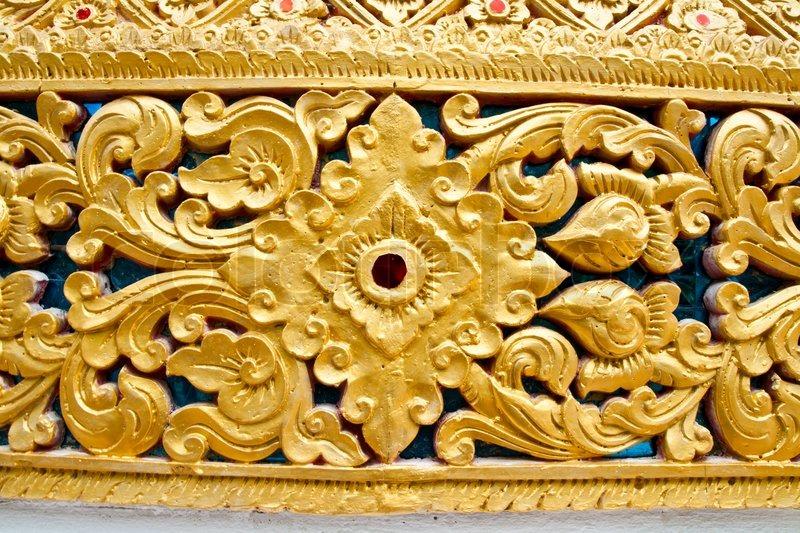 craft thai muster auf der wand stockfoto colourbox. Black Bedroom Furniture Sets. Home Design Ideas