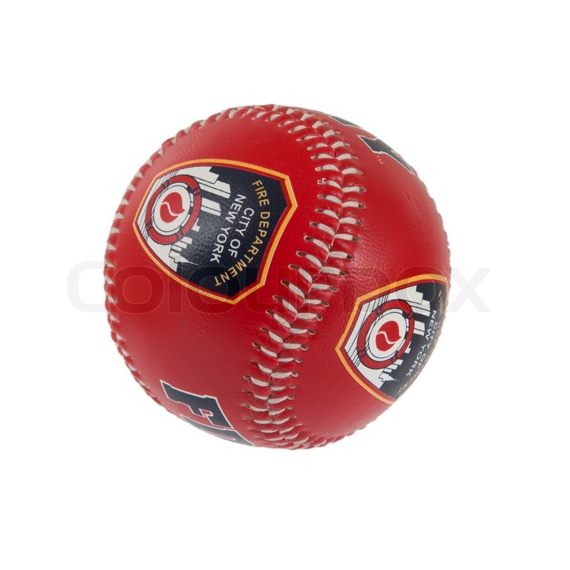 Baseball isolated on white with clipping path, FDNY, stock photo