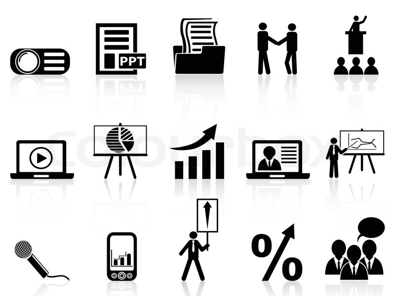 business pr u00e6sentation ikoner s u00e6t