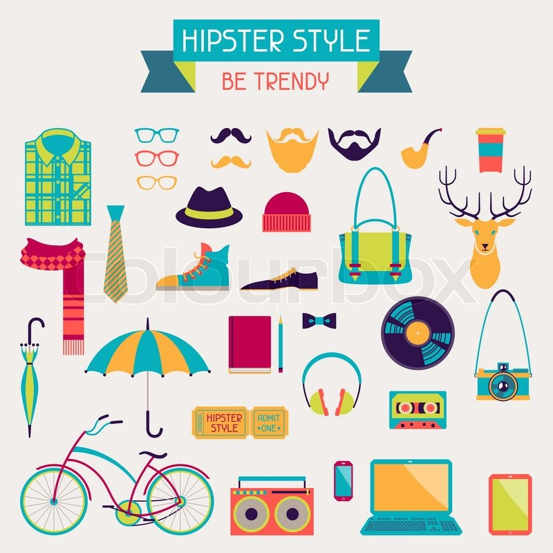Hipster Design Elements Quot Hipster Style Elements And