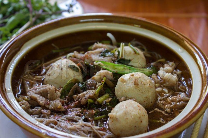Spicy Thai Soup Spicy Soup Noodle a Thai