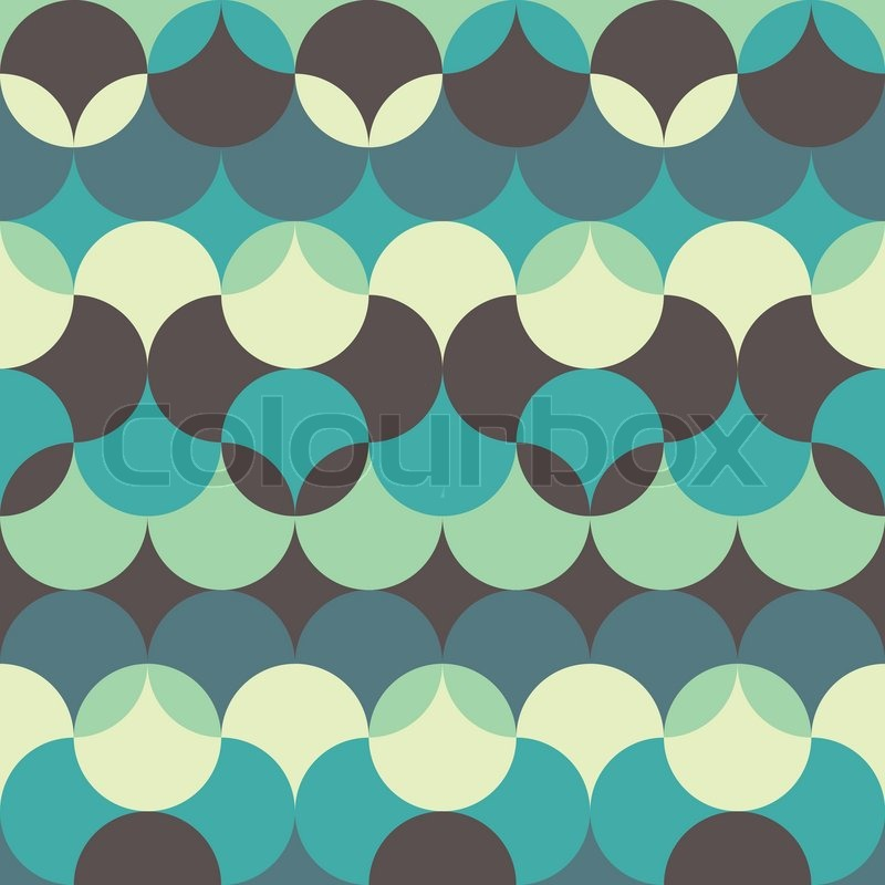 Abstract retro geometric seamless pattern stock vector for Object pool design pattern