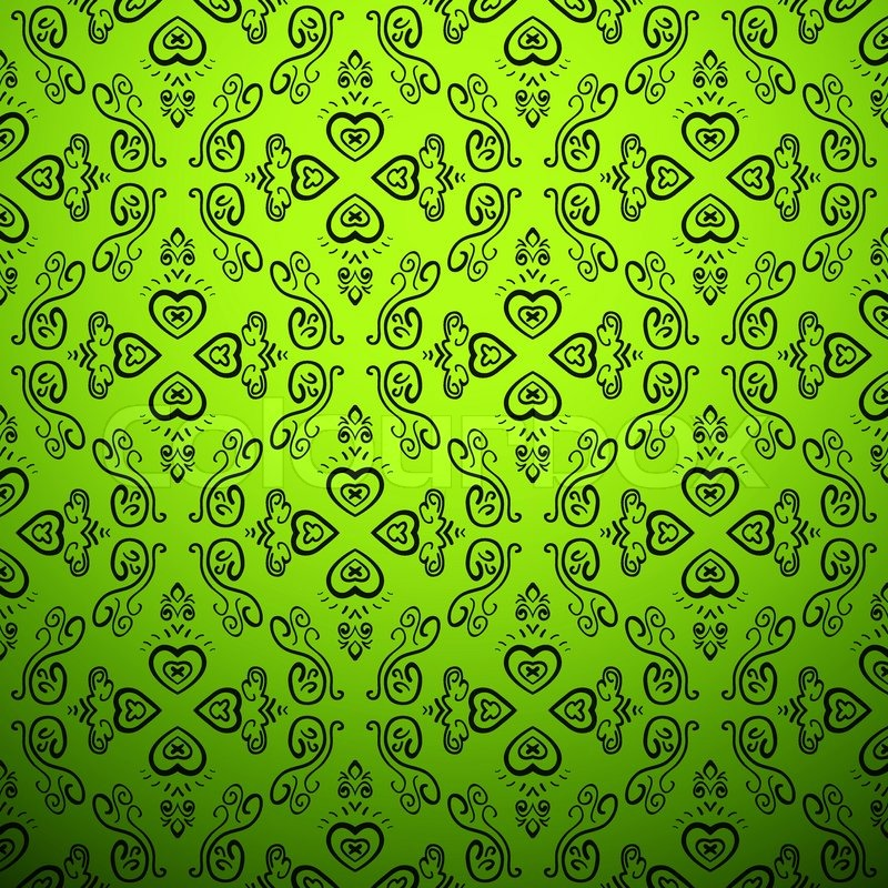 sensual delicate green background seamless pattern stock