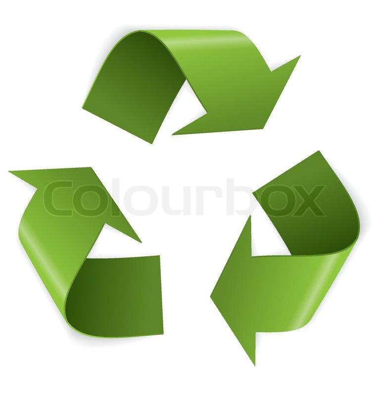 Recycling Symbol Vector Stock Vector Colourbox