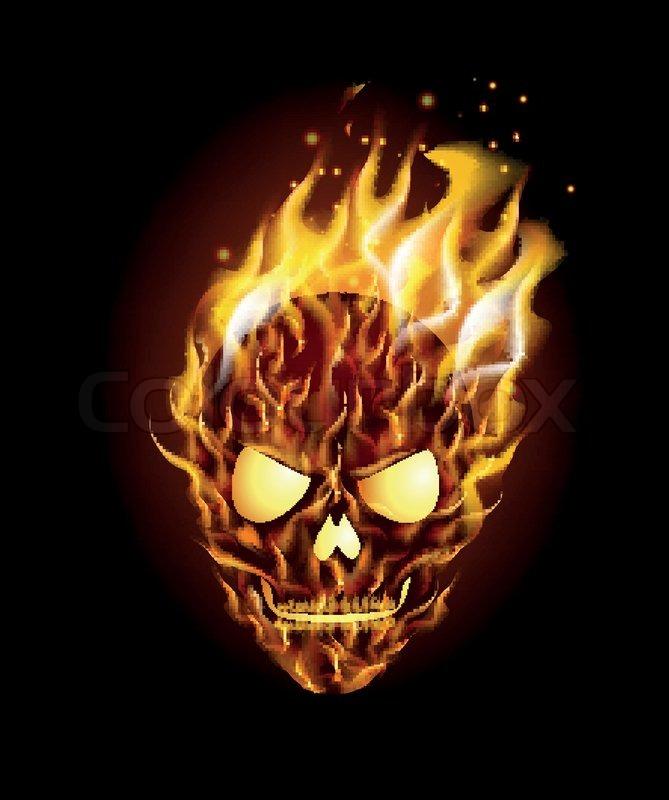 Vector illustration of scary skull on fire stock vector colourbox stock vector of vector illustration of scary skull on fire voltagebd Choice Image