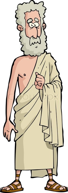 Roman philosopher on a white background vector ...