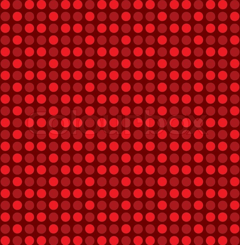 Red Dot Pattern Background Vector