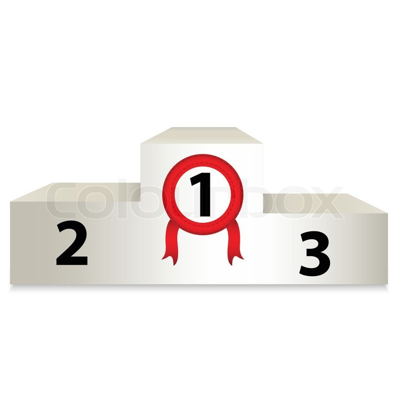 White Podium With Numbers Vector Stock Vector Colourbox