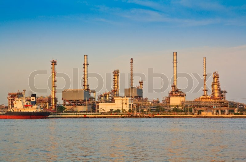 Oil refinery, stock photo