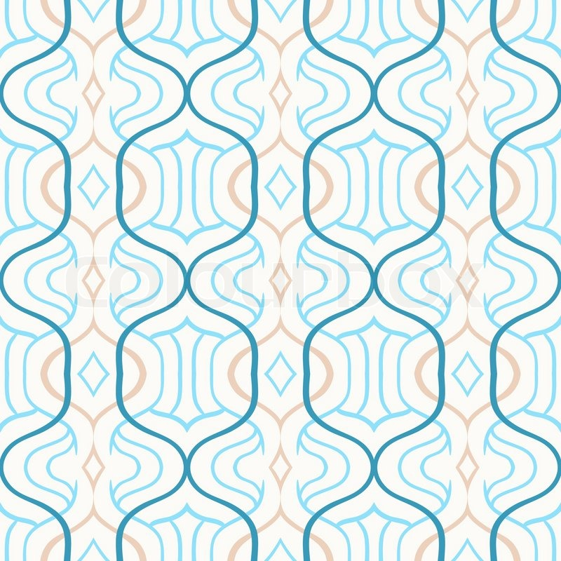 Vector Simple Moroccan Pattern In Blue Stock Vector