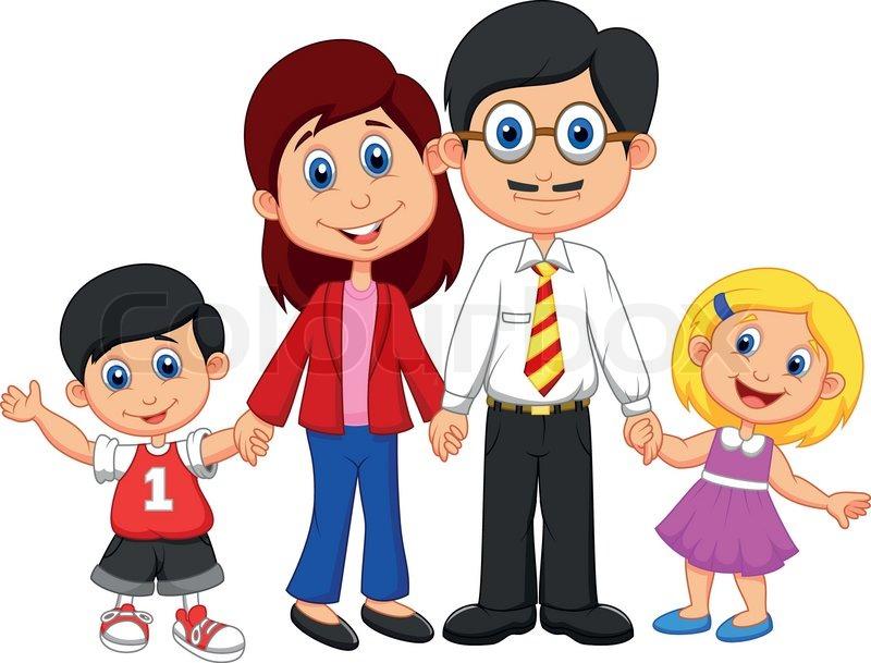 vector illustration of happy family cartoon stock vector colourbox