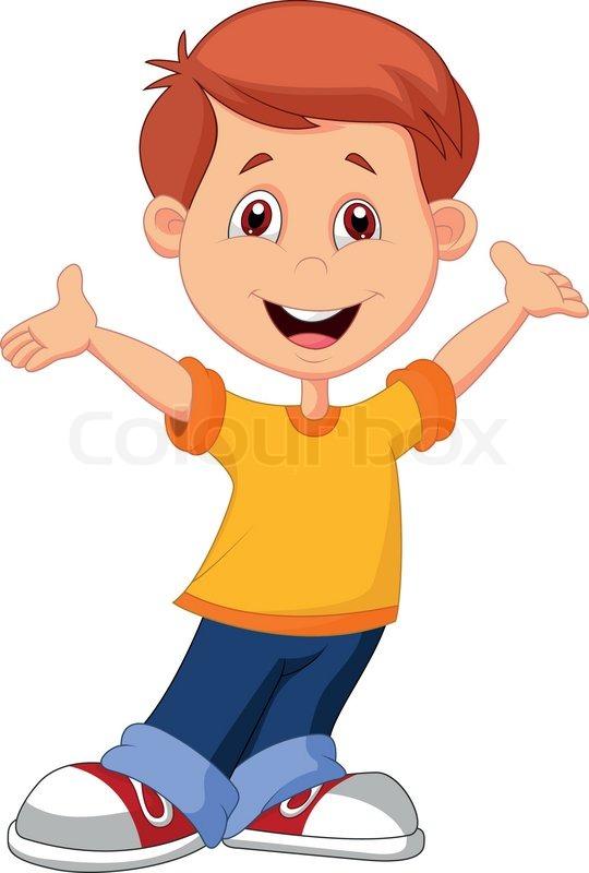 stock vector of cute boy cartoon