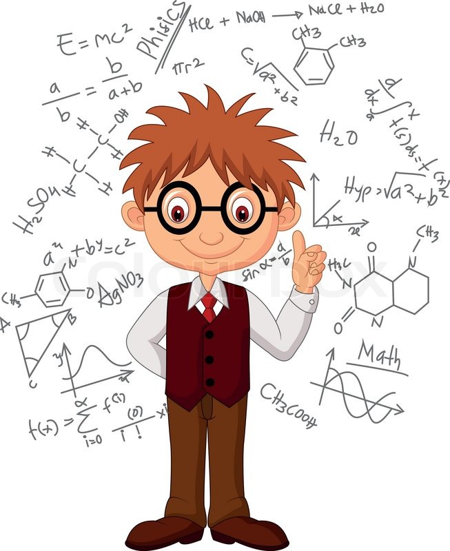 Vector illustration of Smart boy cartoon | Stock Vector ...