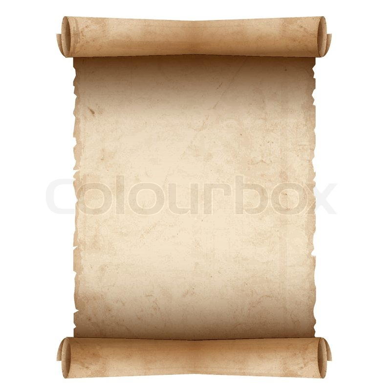 Vector Old Scroll Paper Stock Vector Colourbox