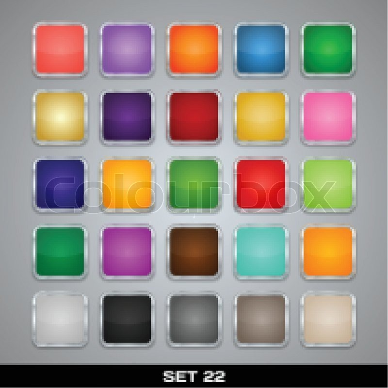 Set Of Colorful App Icon Templates, Frames, Backgrounds. Set 22 ...