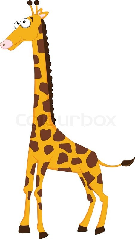 cute giraffe cartoon stock vector colourbox safari animals clip art safari animal clip art images