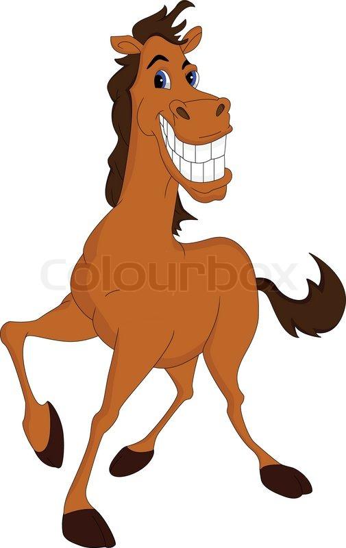 Funny horse cartoon stock vector colourbox publicscrutiny Choice Image