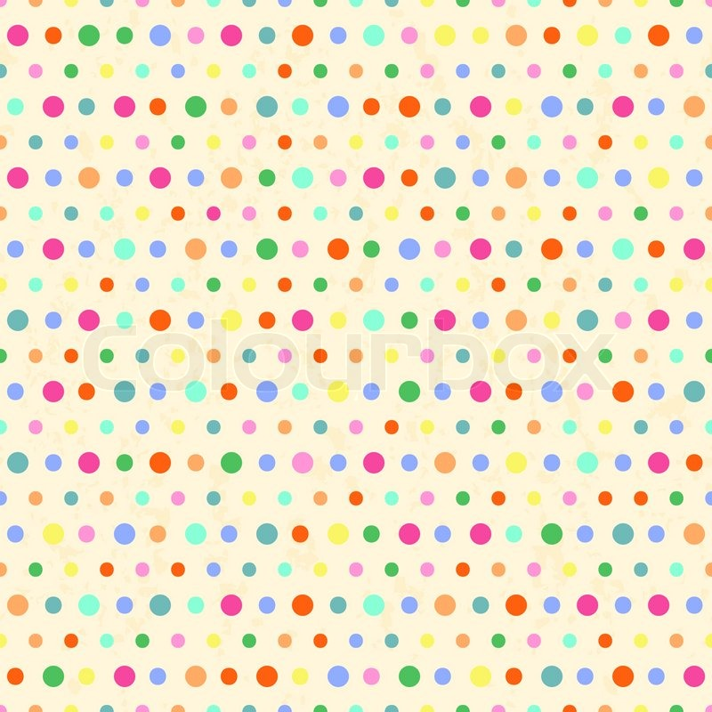 polka dots patternvintage background stock vector
