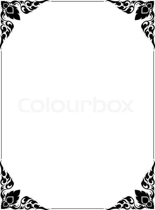 Frame artistic of line thai | Stock Vector | Colourbox
