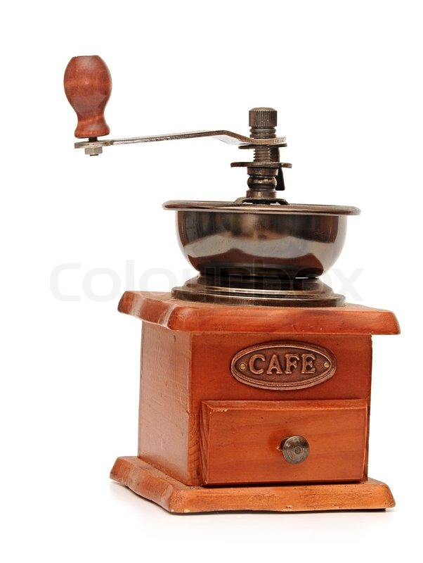 Fantastisk Vintage manuel kaffemølle isoleret på | Stock foto | Colourbox MT66