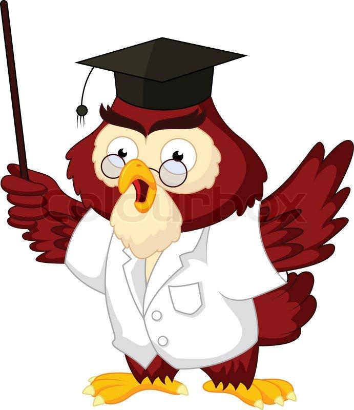 owl teacher cartoon stock vector colourbox Baby Owl Clip Art Owl Birthday Clip Art