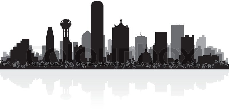 dallas skyline coloring pages - photo#12