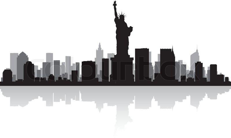 skyline von new york silhouette vektorgrafik colourbox. Black Bedroom Furniture Sets. Home Design Ideas