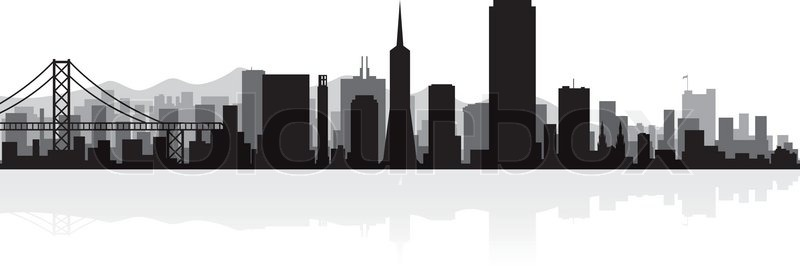 san francisco usa city skyline silhouette vector illustration rh colourbox com san francisco skyline outline vector san francisco skyline outline vector