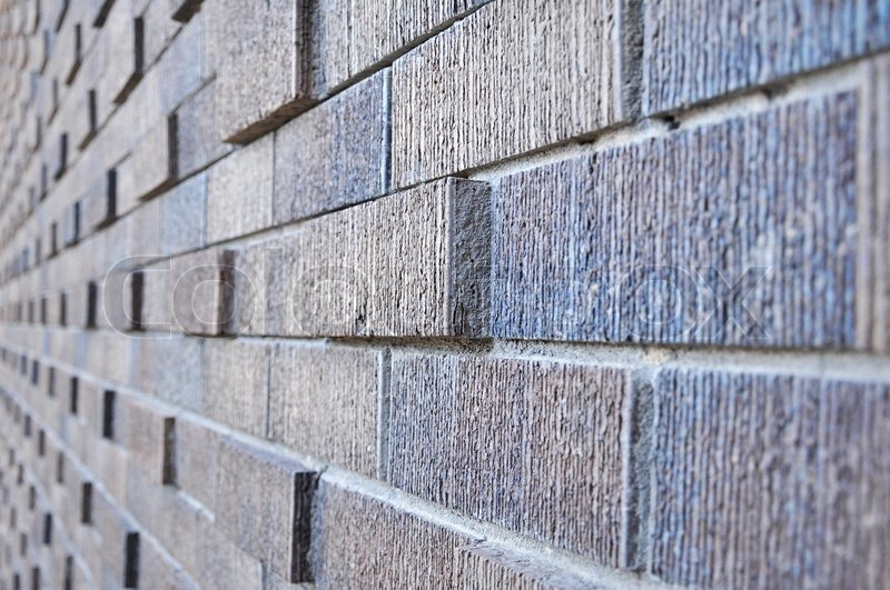 Side View Of Abstract Brick Wall
