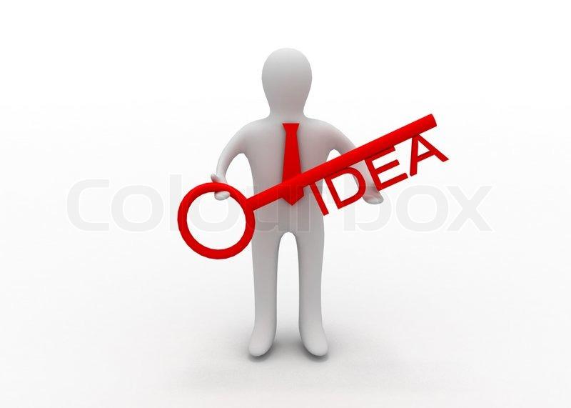 Chel With Key Idea Stock Photo Colourbox