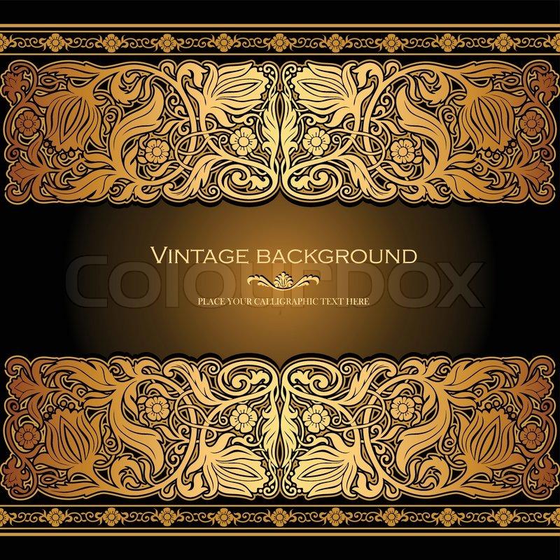 vintage background  antique style