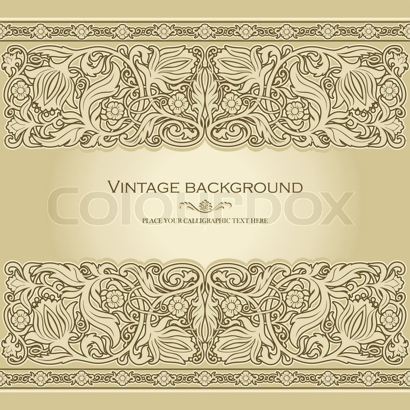 Vintage Background Antique Style Invitation And Greeting