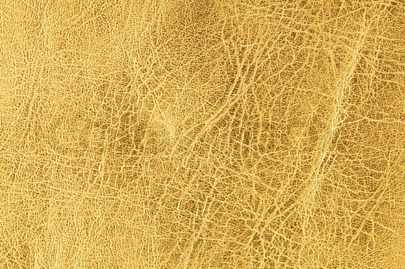 Close Up Schuss Von Gold Leder Textur Stockfoto