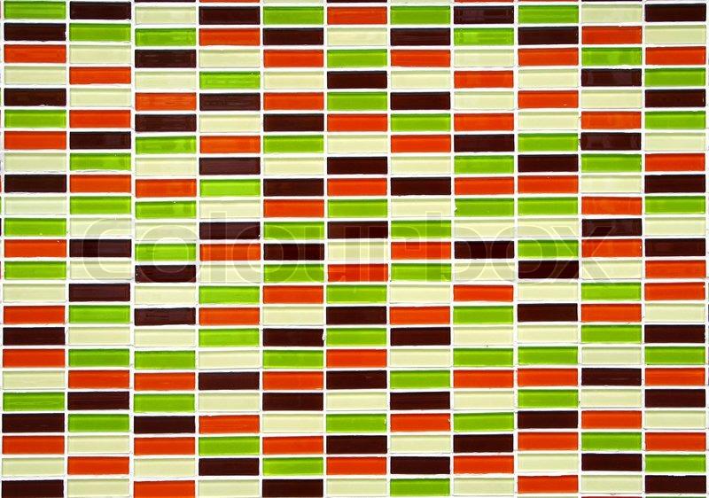 Kleine Bunte Fliesen Wand Stockfoto Colourbox - Kleine bunte fliesen