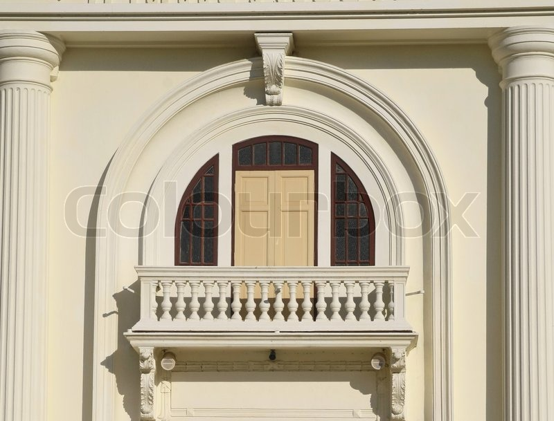 Balcony of classic building stock photo colourbox for Classic builders