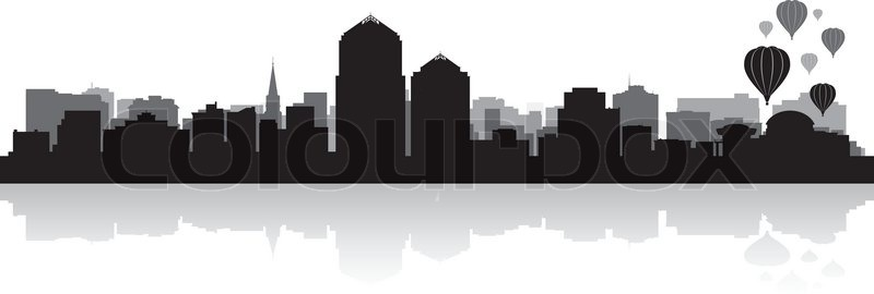 Albuquerque Usa City Skyline Silhouette Vector