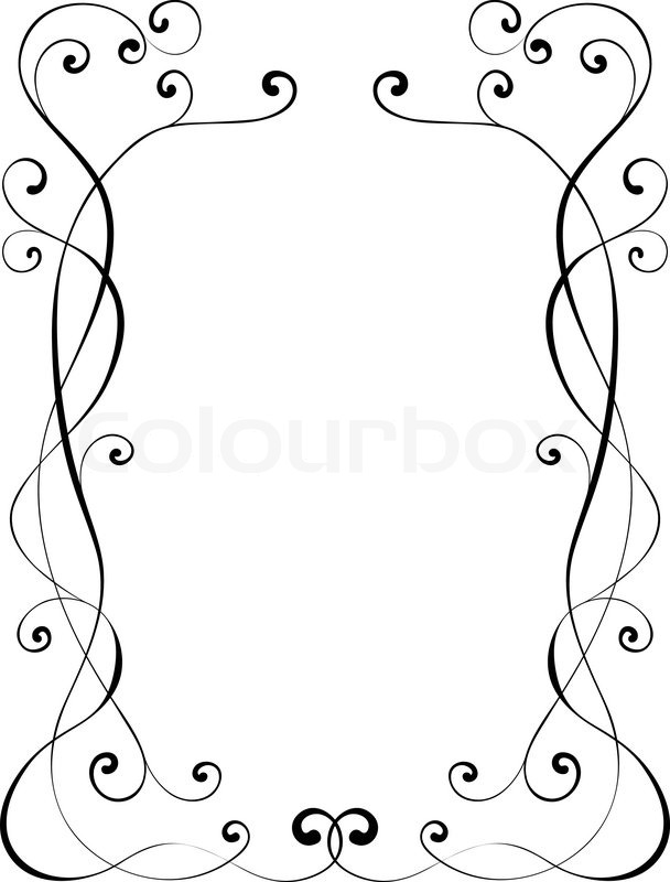 kalligraphie ornamentalen dekorativen rahmen vektorgrafik colourbox. Black Bedroom Furniture Sets. Home Design Ideas
