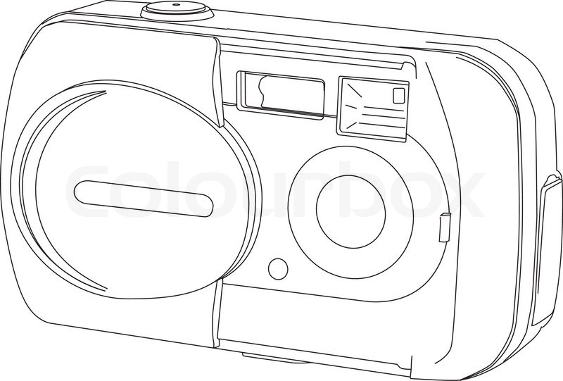 Line Art Limited : Camera line drawing stock vector colourbox