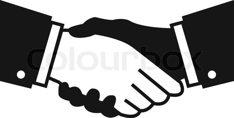 Stock Vector Handshake Teamwork Hands