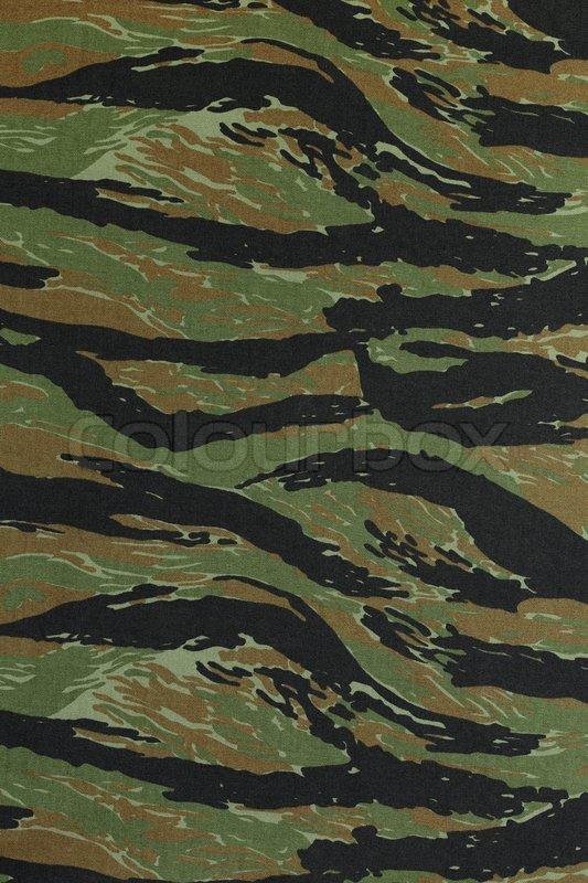 Us Vietnam Green Tigerstripe Camouflage Fabric Texture