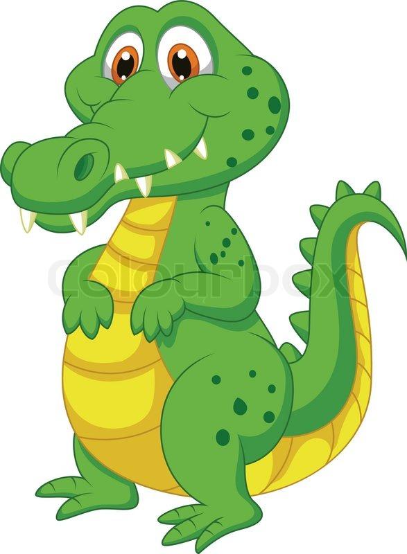 Vector illustration of cute crocodile cartoon stock - Image crocodile dessin ...