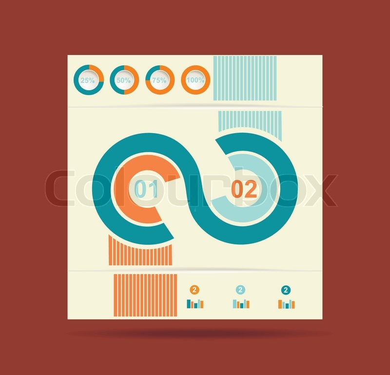 Werbung Broschüre Design -Vorlage, Vektor | Vektorgrafik | Colourbox