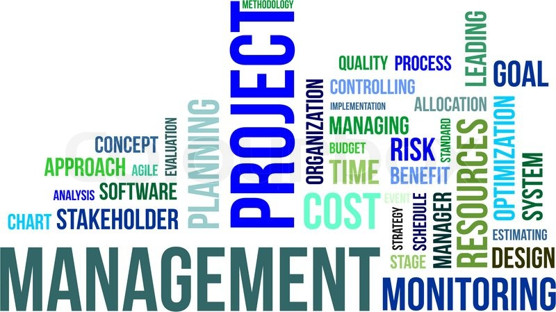 A word cloud of project management related items | Stock Vector ...