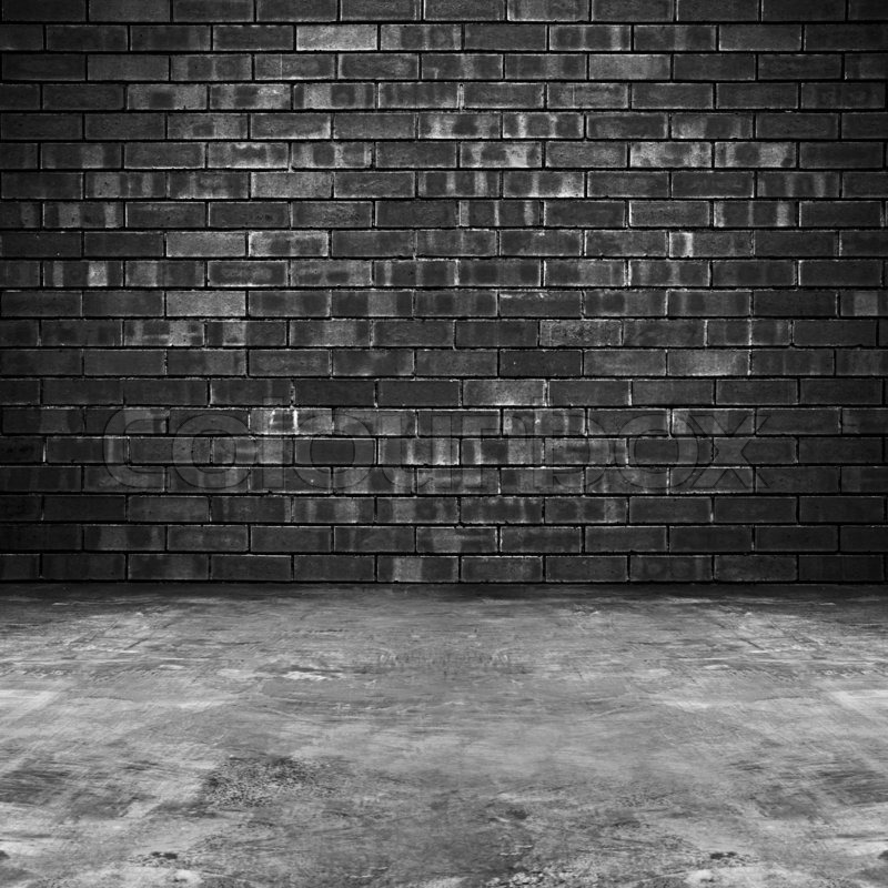 Old Brick Wall And Concrete Floor Stock Photo Colourbox