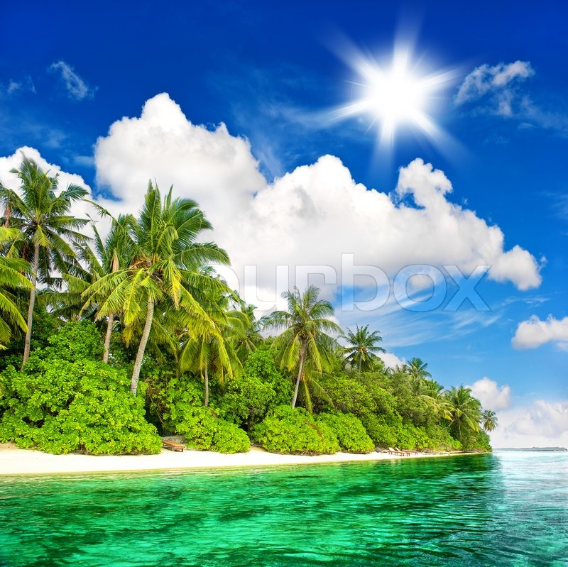 Tropical Island Beaches: Landscape Of Tropical Island Beach With ...