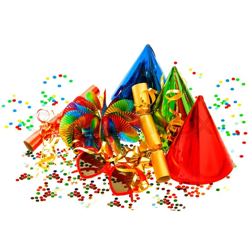 Bunten karneval und geburtstag party deko stock foto for Party deko 50 geburtstag
