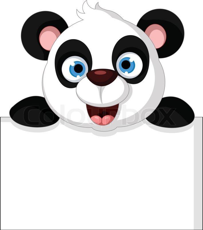 panda cartoon holding blank sign stock vector colourbox Cute School Clip Art Free Cute Thanksgiving Clip Art Free