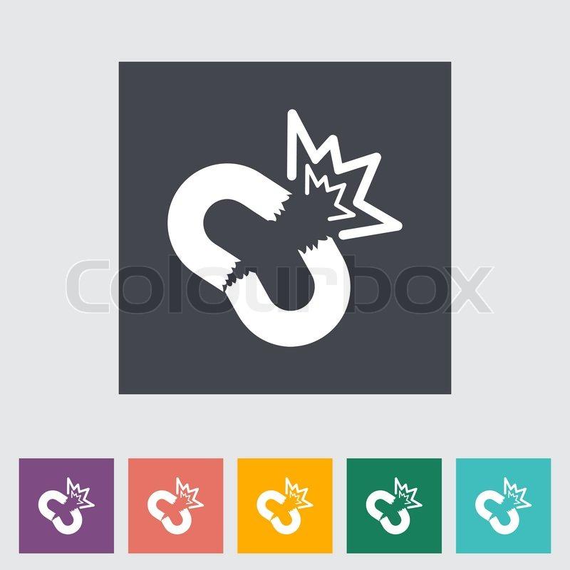 Unterbrochene Verbindung flachen einzelnes Symbol | Vektorgrafik ...
